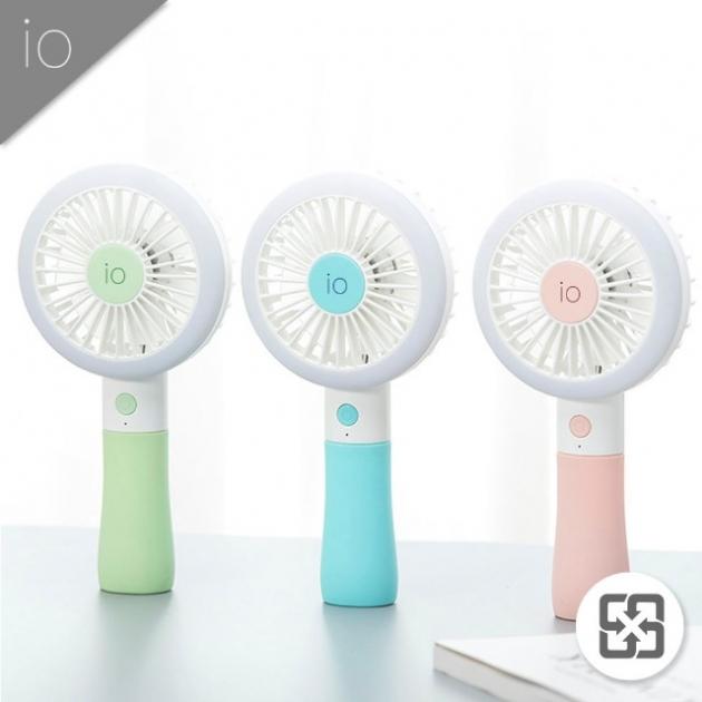 補光燈手持風扇3入組(櫻花粉+天空藍+薄荷綠) 1