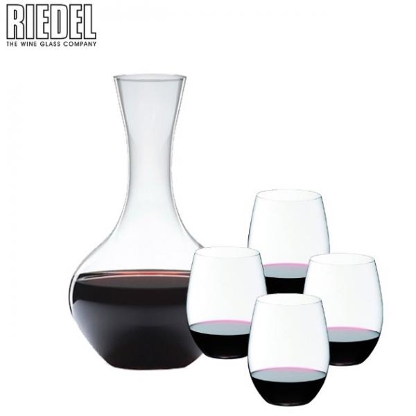 CABERNET/MERLOT 紅酒杯4入 + O 醒酒器1入 5414/30 1